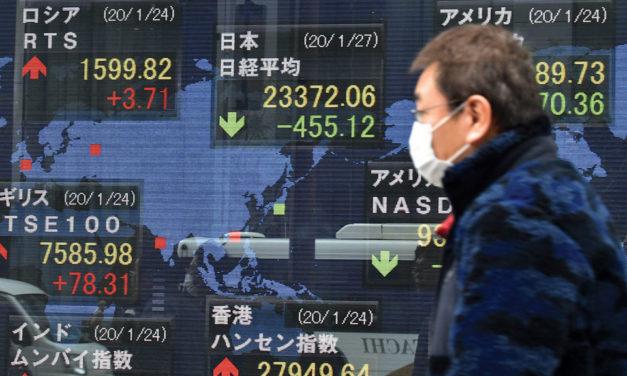 Bolsas asiáticas fecham em queda com aumento de preocupações sobre coronavírus