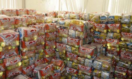 Três mil famílias atendidas pelo TerPaz, casas de acolhimento e abrigos recebem doações de cestas básicas