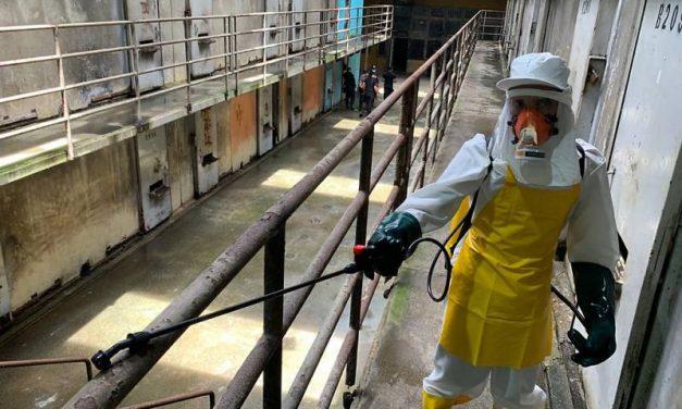 Casas penais do Pará passam por desinfecção todos os dias