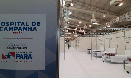Pará ganha o primeiro dos quatro hospitais de campanha para atendimento de casos de Covid-19