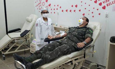 Hemopa recebe apoio do Exército Brasileiro para reforço do banco de sangue