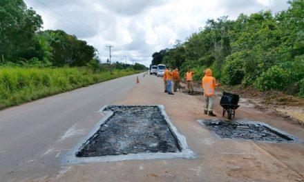 Setran executa obras nas Rodovias PA-481 e PA-483