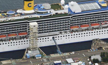 Noventa e um tripulantes de cruzeiro atracado em Nagasaki estão com coronavírus