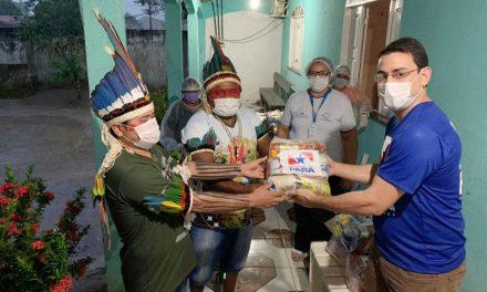 Governo faz entrega de cestas de alimentos para comunidades indígenas