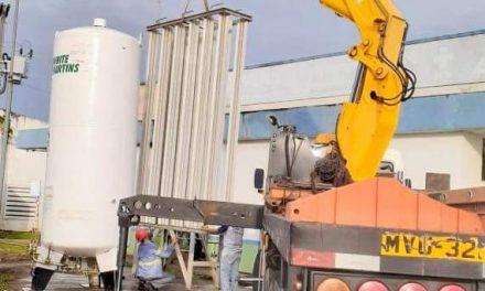 Tanque de oxigênio é instalado na UPA de Marituba