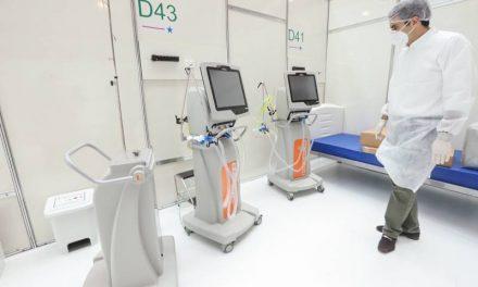 Governador acompanha a instalação de 60 novos respiradores no hospital de Campanha em Belém