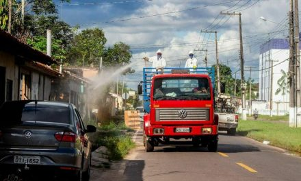 Prefeitura de Santa Izabel desinfecta ruas da cidade