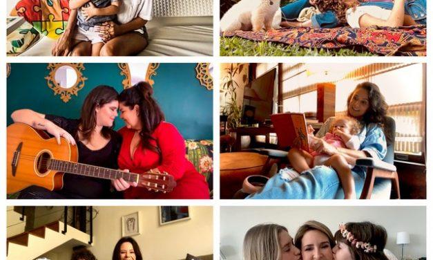Mães famosas fazem ensaio fotográfico por aplicativo de celular