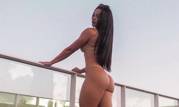 Fernanda D'avila posa de biquíni e dá dicas para quem quer manter o foco nos treinos