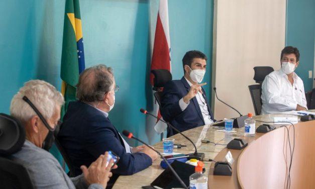 Ex-ministro da Saúde, Luiz Mandetta, reúne com o governador Helder Barbalho