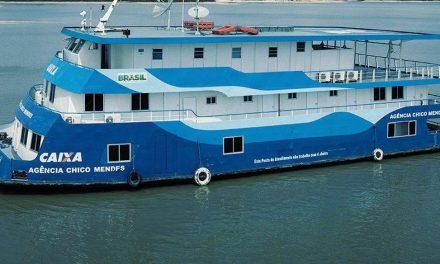 Populações ribeirinhas do Pará e Amazonas receberão auxílio emergencial em agências-barco