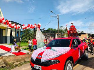 Solenidade de Pentecostes foi realizada pela manhã deste domingo, pelas ruas de Moju