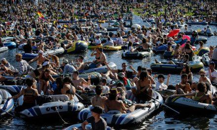 Festa com botes é interrompida pela polícia na Alemanha
