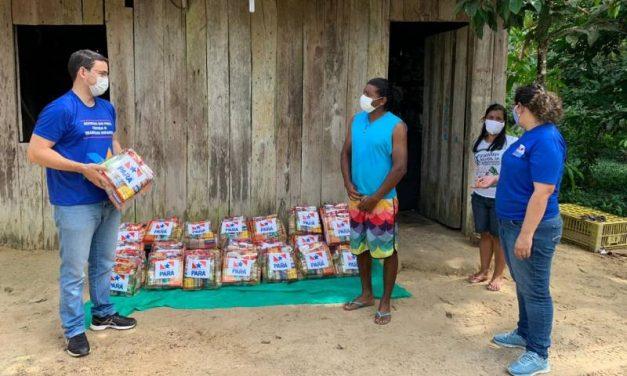 Governo do Pará entrega cestas de alimentos e produtos de limpeza em assentamentos rurais