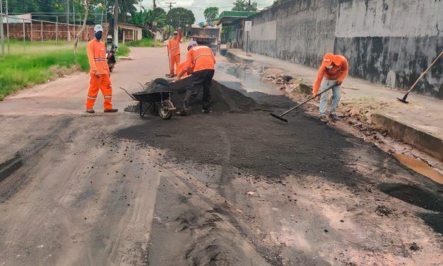 Prefeitura de Marituba melhora o trânsito da Estrada do Uriboca Velho