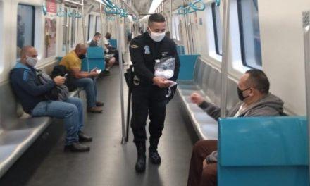 Passageiros do metrô no Rio vão receber 1 milhão de máscaras de proteção