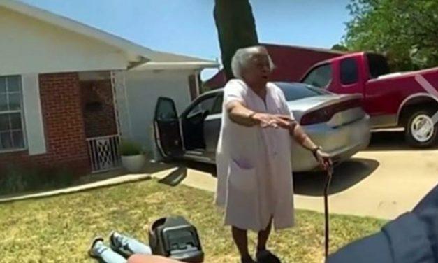 Avó de 90 anos protege o neto de abordagem policial nos EUA