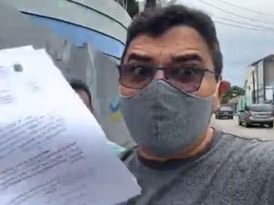 Vereadores são barrados em entrada de hospital de campanha em Fortaleza