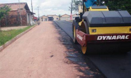 Prefeitura de Bragança realiza pavimentação asfáltica da rua Armando Pinheiro da Silva