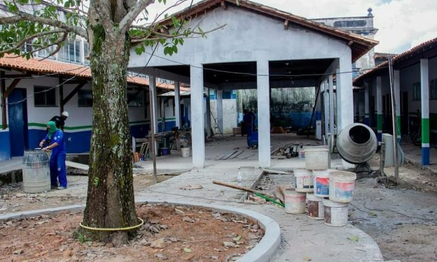 Reforma e ampliação da Escola Municipal Silvio Nascimento está em fase de conclusão