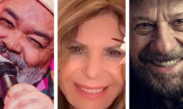 Elba Ramalho, João Bosco e Jorge Aragão têm lives nesta sexta, 19