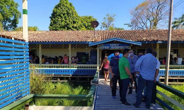 Ação de enfrentamento ao novo coronavírus na localidade de Itanduba