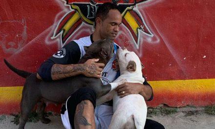Bruno agradece canil em selfie com pitbulls e internet se revolta