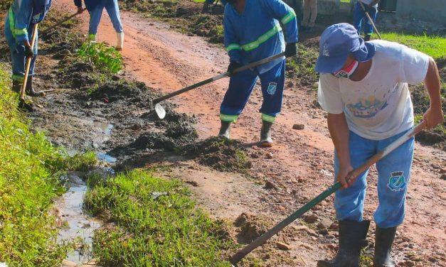 Prefeitura realiza a ação de limpeza no Jardim Miraí