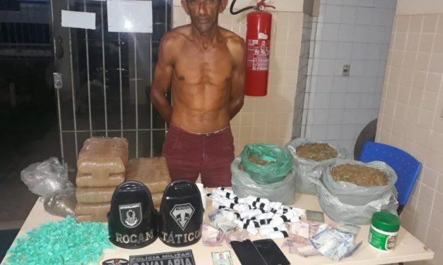 Homem é preso pela PM com mais de 8 kg de maconha em Tailândia