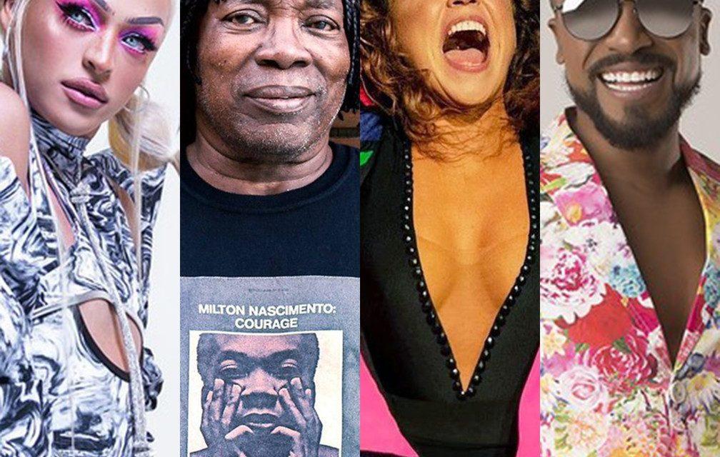 Lives de hoje: Pabllo Vittar, Milton Nascimento, Daniela Mercury, Alexandre Pires e mais shows