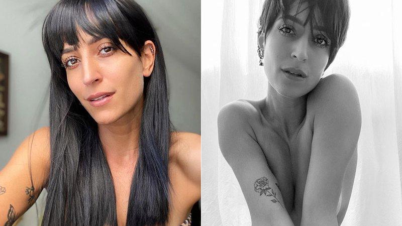 Maria Joana posta foto nua e de cabelo curto e pede união às mulheres