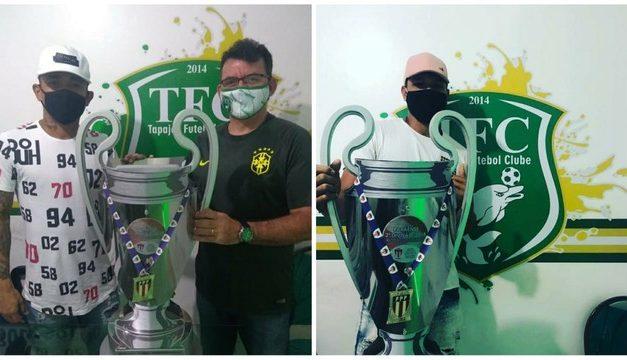 Matando a saudade: Jaquinha e Paulo Curuá visitam sede do Tapajós em Santarém