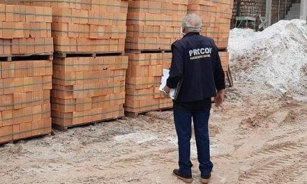 Procon decide hoje se haverá fiscalização de preços abusivos de tijolos, no interior do Pará