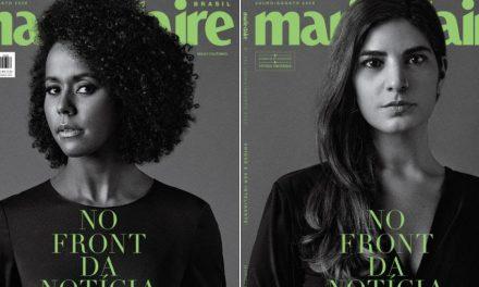 Marie Claire traz capas com jornalistas da linha de frente da cobertura da pandemia