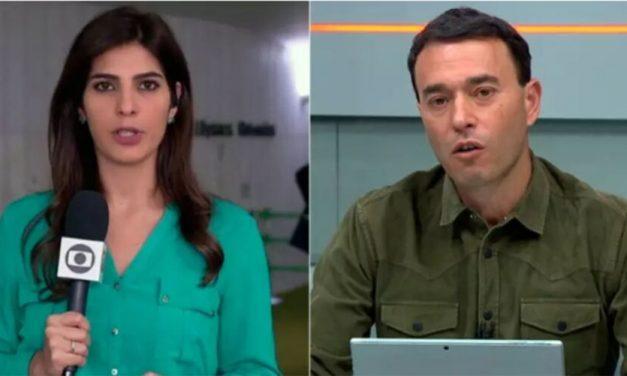 Apresentador se declara para repórter da Globo na web