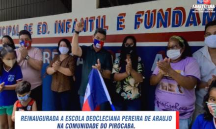 Prefeitura de Abaetetuba entrega Escola Diocleciana Pereira de Araújo
