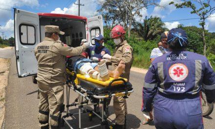 Imprudência causa acidente na BR 308 em Bragança