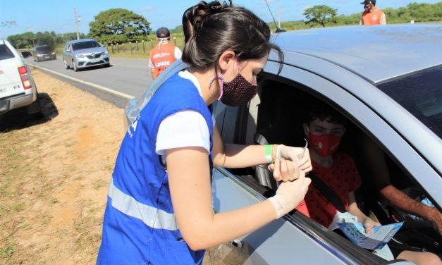 """Assistência social presente na operação """"Verão sem covid"""" realizada na barreira sanitária na rodovia Bragança/Ajuruteua"""