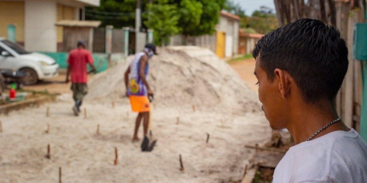 Prefeitura inicia a pavimentação da Travessa Boa Esperança
