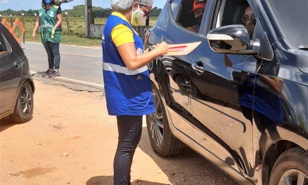 Semtraps realiza sensibilização para os cuidados com crianças na barreira sanitária de Ajuruteua