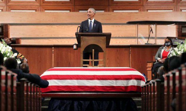 Em funeral de Lewis, Obama compara Trump a governador racista dos anos 60