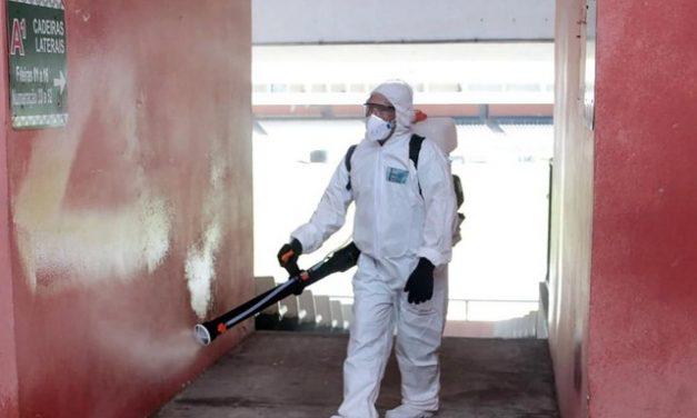 Mangueirão passa por serviço de sanitização para receber jogos do Campeonato Paraense
