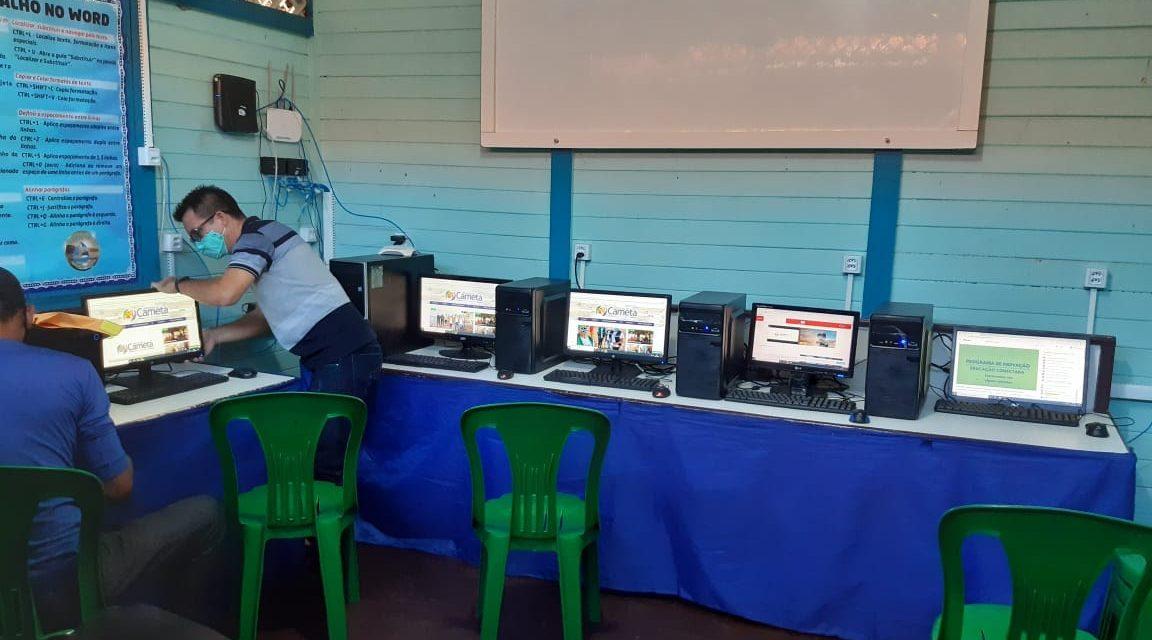 Escola Municipal São Pedro em Marinteua recebe internet banda larga