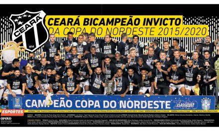 Ceará receberá R$ 3,8 milhões por título do Nordestão e está nas oitavas da Copa do Brasil 2021