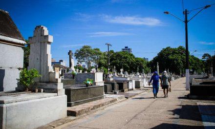 Dia dos Pais registra movimento tranquilo nos cemitérios públicos de Belém
