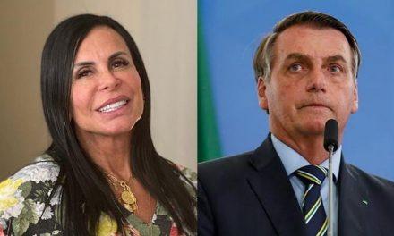 Debochada, Gretchen sugere ter mais fãs do que Bolsonaro