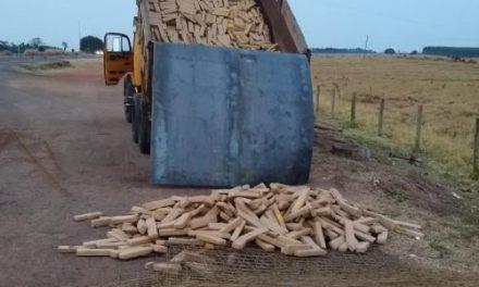 PRF apreende duas toneladas de maconha em caminhão caçamba na BR-163