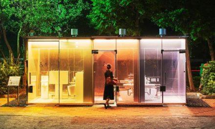 Parques do Japão inauguram banheiro público com vidro transparente