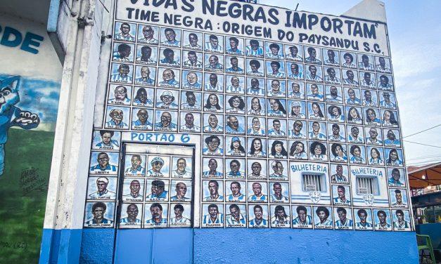 Vidas negras importam: Papão enaltece atletas e torcedores negros com mural na Curuzu