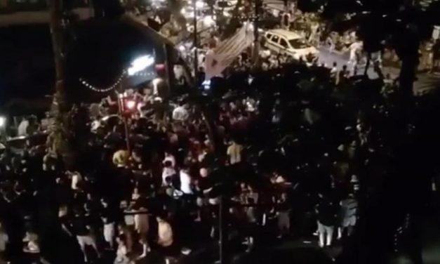 No Rio de Janeiro, bairro do Leblon registra mais uma noite de aglomerações